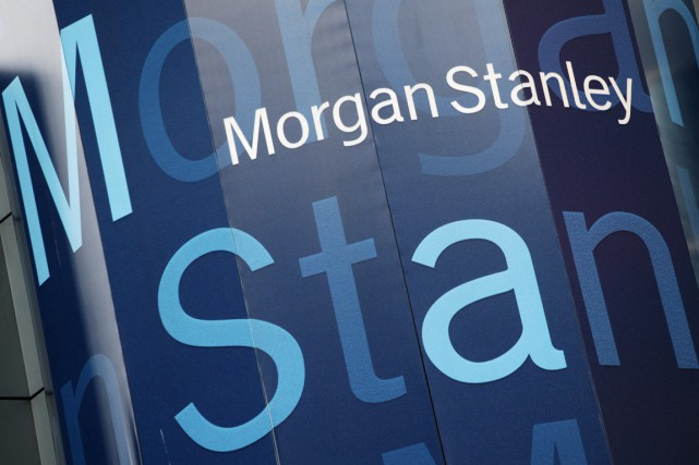 La banque d'affaires américaine Morgan Stanley (MS) a plus que... (PHOTO ARCHIVES AP)