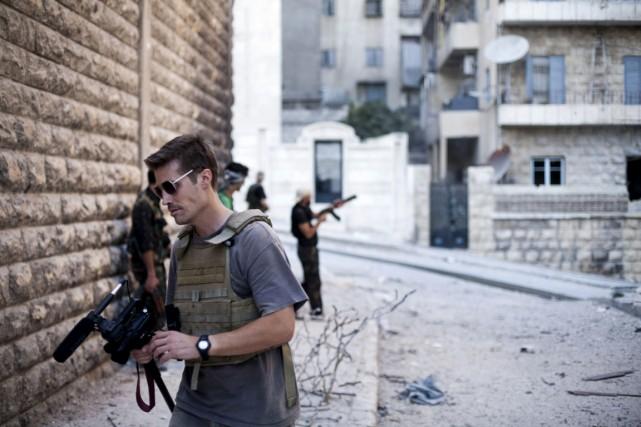 Le journaliste américain James Foley, en Syrie, en... (Photo archives AP)