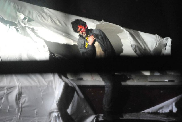 Dzhokhar Tsranaev, le visage recouvert de sang et... (PHOTO BOSTON MAGAZINE)