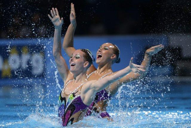Les Canadiennes Emilia Kopcik et Stéphanie Leclair ont... (Photo : David J. Phillip, AP)