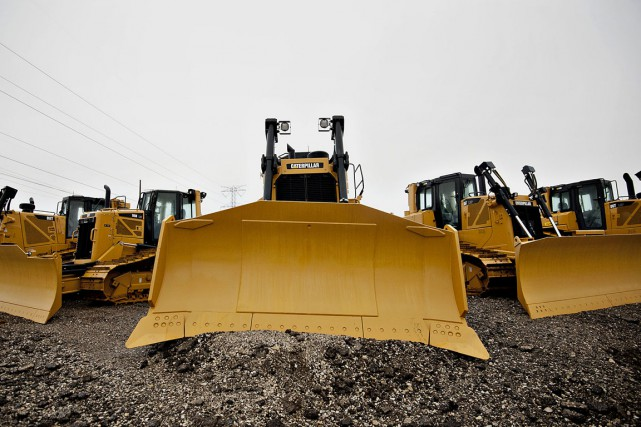 Le groupe d'engins de construction Caterpillar (CAT) a dégagé... (PHOTO ARCHIVES BLOOMBERG)