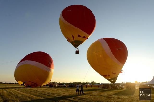 À dix jours de l'ouverture officielle de l'International de montgolfières de... (Photo: Bernard Brault, La Presse)