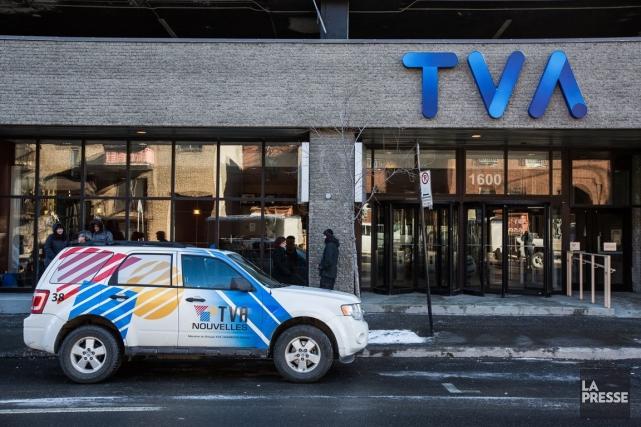 Groupe TVA (T.TVA.B), filiale de Québecor Média (T.QBR.B), a... (Photo Édouard Plante-Fréchette, Archives La Presse)