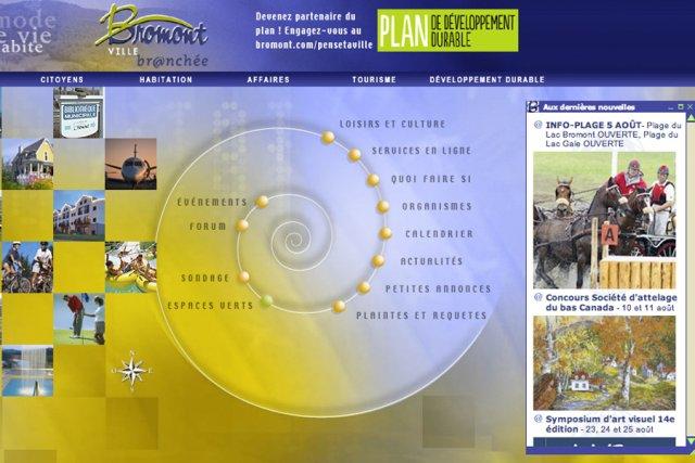 Le site web actuel de Bromont date d'une...