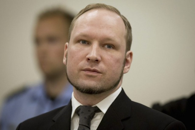 Anders Behring Breivik en août 2012.... (PHOTO ARCHIVES AFP)