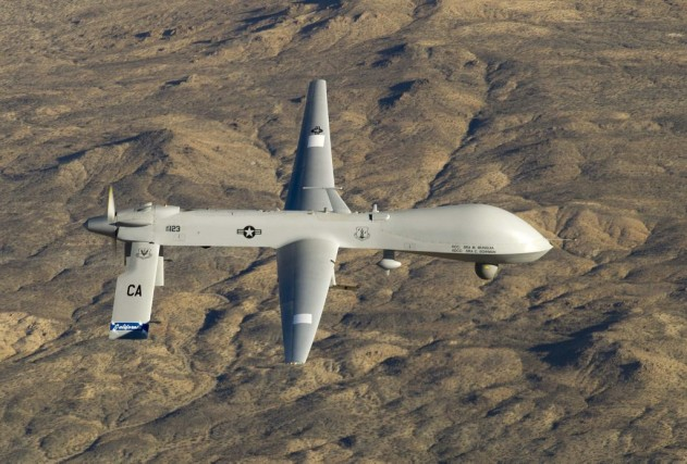 Un drone américain.... (Photo Associated Press)