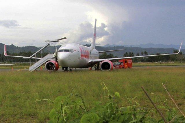 Aucun des passagers n'a été sérieusement blessé lorsque... (Photo AFP)