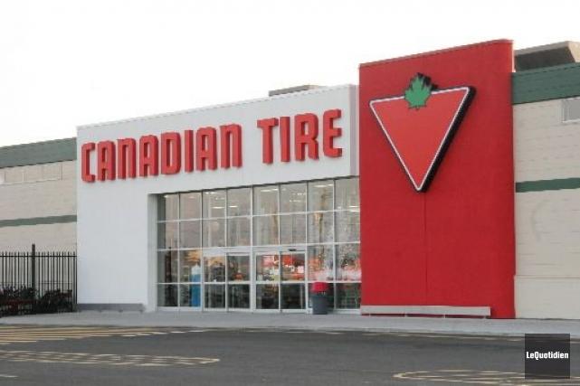 Canadian Tire (T.CTC.A)a signé une entente de plusieurs... (Photo archives Le Quotidien)