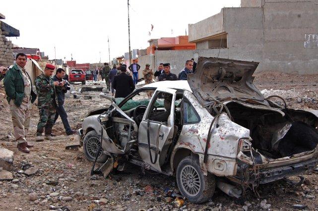 En Irak, où les branches syrienne et irakienne... (Photo AP)