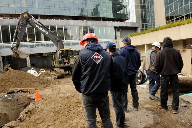Plusieurs chantiers ont été paralysés par des débrayages... (Photothèque Le Soleil, Patrice Laroche)