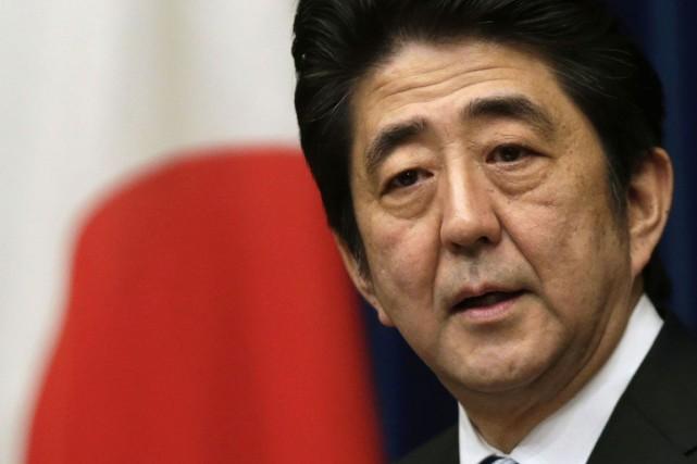 La premier ministre japonais Shinzo Abe.... (PHOTO TORU HANAI, REUTERS)