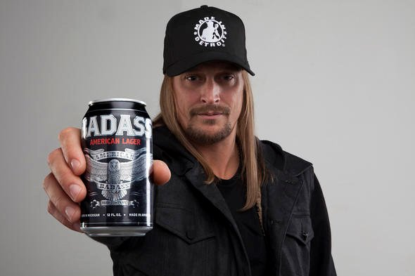 Kid Rock a annoncé sur son site internet que sa bière American Badass... (Photo: site officiel de Kid Rock)