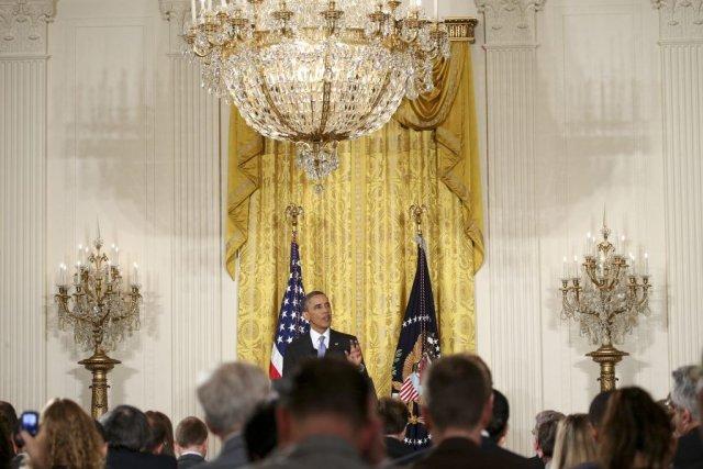 Barack Obama a appelé hier le Congrès à... (Photo DOUG MILLS, The New York Times)