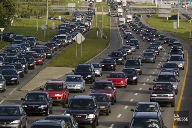 Une prise de vue de l'autoroute 15.... (Photo Ivanoh Demers, archives La Presse)