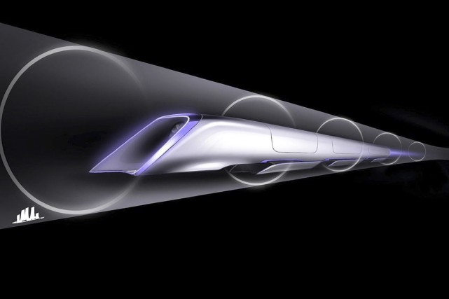 Cette image dévoilée par Tesla montre un tube... (Photo Associated Press/Tesla Motors)