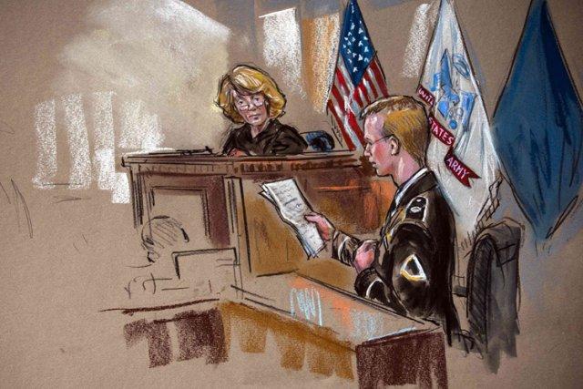 C'est la première fois que Bradley Manning présente... (Photo: Reuters)