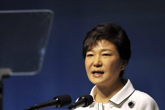 La présidente de la Corée du Nord Park... (Photo Jung Yeon-Je, Agence France-Presse)