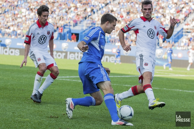 Andrew Wenger, en action contre le DC United.... (PHOTO EDOUARD PLANTE-FRÉCHETTE, ARCHIVES LA PRESSE)