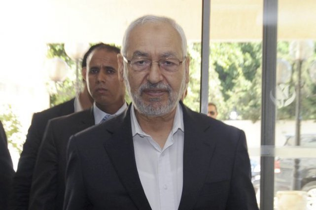 Rached Ghannouchi, leader du parti Ennahda.... (PHOTO FETHI BELAID, AFP)