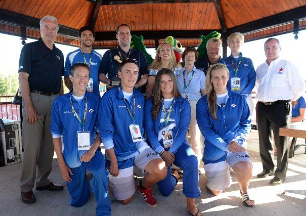 L'équipe des Jeux a pris un temps d'arrêt... (IMACOM, Julien Chamberland)