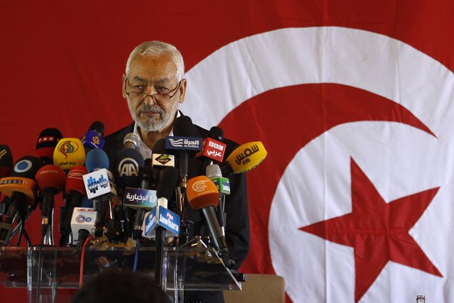 Le chef du parti islamiste Ennahda, Rached Ghannouchi... (PHOTO Zoubeir Souissi, REUTERS)