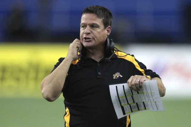 Marcel Bellefeuille, alors qu'il était entraîneur-chef des Tiger-Cats... (PHOTO CHRISTINNE MUSCHI, REUTERS)