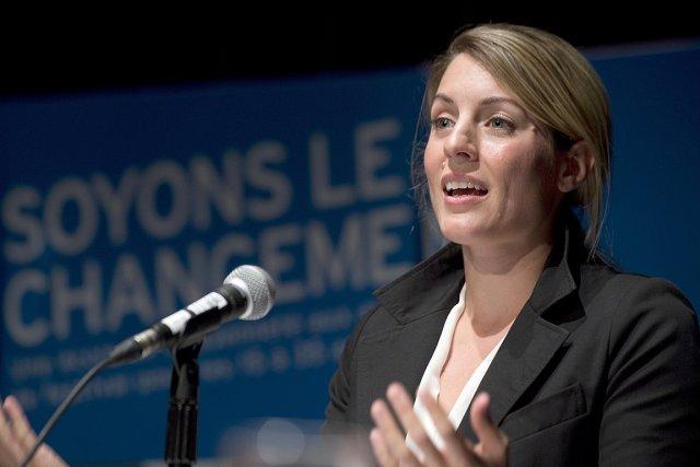 Mélanie Joly est candidate à la mairie de... (Photo Graham Hughes, La Presse Canadienne)
