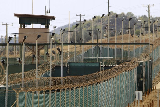 Le Camp Delta de la prison de Gantanamo.... (PHOTO ARCHIVES AFP)