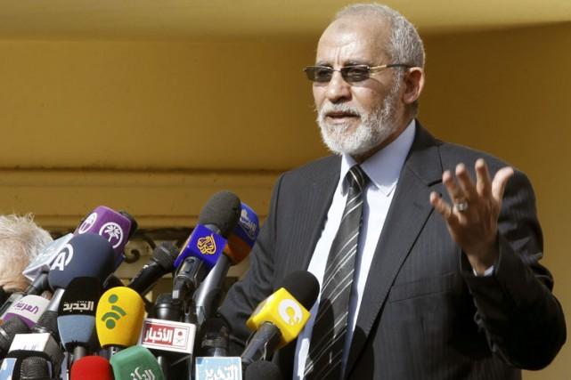 Le Guide suprême des Frères musulmans égyptiens,Mohamed Badie,a... (Photo: Reuters)