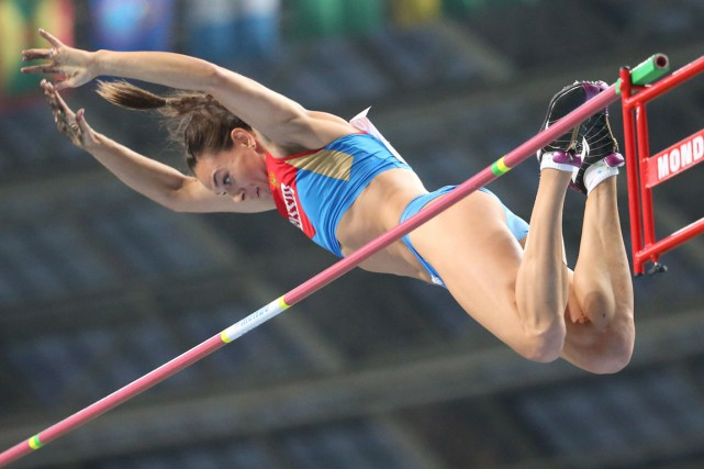 La star russe de la perche Yelena Isinbayeva.... (Photo Franck Fife, archives AFP)