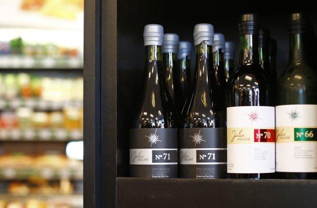 Des vins d'alimentation haut de gamme sont offerts... (Photo: Le Soleil)
