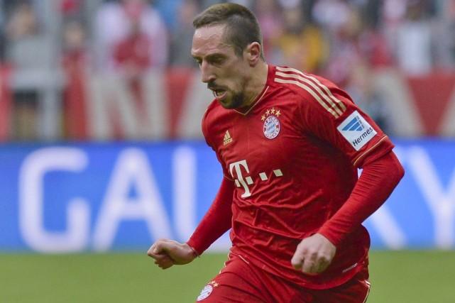 Franck Ribéry... (Photo Guenter Schiffmann, archives AFP)