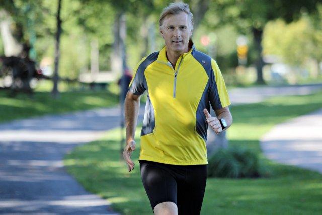 Jusqu'ici, Maxime Bernier a couru quelque 2640 km,... (PHOTO Pascal RatthÉ, LE SOLEIL)