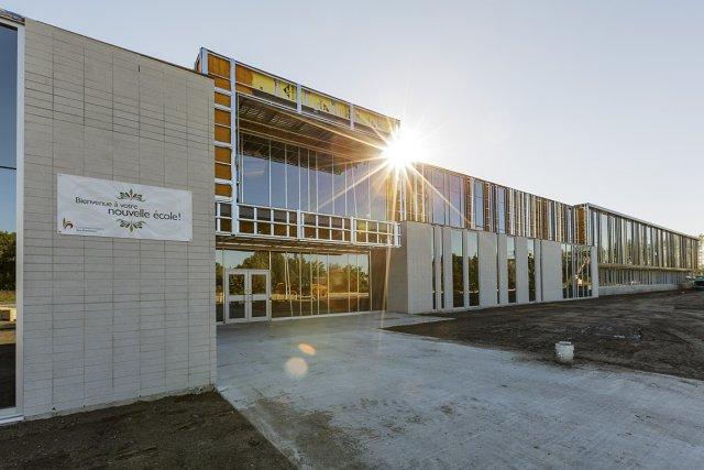 Une nouvelle école primaire voit le jour à... (PHOTO ULYSSE LEMERISE, COLLABORATION SPÉCIALE)