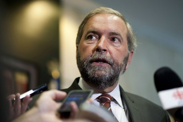 Le chef du Nouveau Parti démocratique (NPD), Thomas... (PHOTO GRAHAM HUGHES, LA PRESSE CANADIENNE)