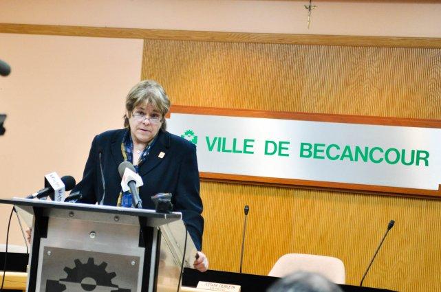 Élue à la mairie de Bécancour le 12... (Photo: Émilie O'Connor)