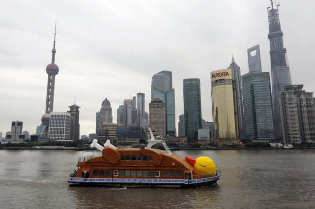 La version shanghaïenne se démarque en représentant un... (Photo AFP)