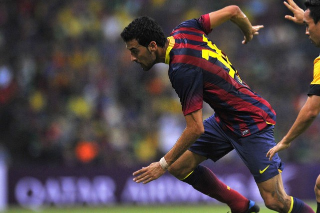 Sergio Busquets... (Photo Mohd Rasfan, archives AFP)