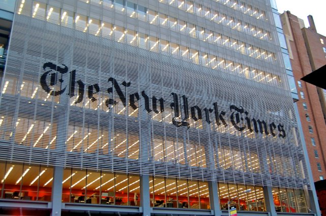 Les bureaux du New York Times.... (Photo Wikimedia Commons)