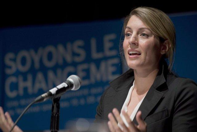 L'avocate de 34 ansMélanie Joly a présenté un... (Photo Graham Hughes, PC)