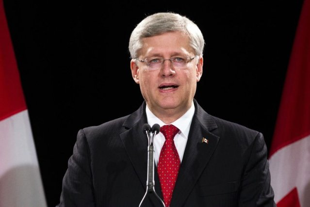 Le premier ministre Stephen Harper, jeudi en conférence de... (PHOTO MARK BLINCH, REUTERS)