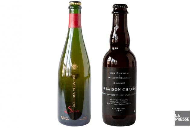 Deux bières à découvrir, une distribuée à plus large échelle, l'autre offerte... (PHOTOS MARCO CAMPANOZZI, LA PRESSE)