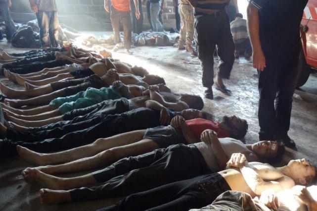 L'utilisation d'armes chimiques par le régime de Bachar... (Photo AP)