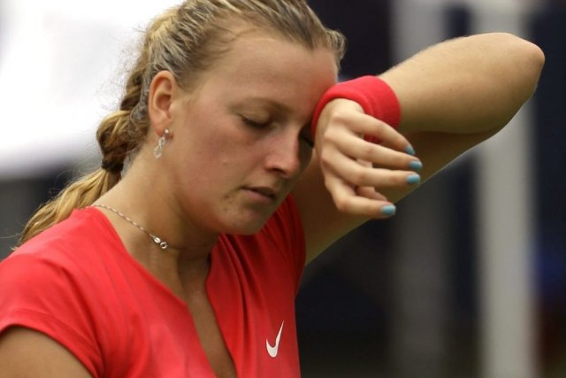 Petra Kvitova,reine de Wimbledon en 2011, occupe le... (Photo Julio Cortez, AP)