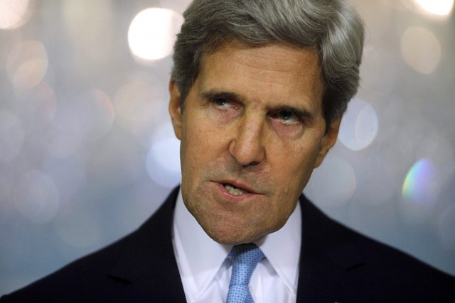 Le secrétaire d'État américain John Kerry.... (PHOTO Charles Dharapak, ASSOCIATED PRESS)