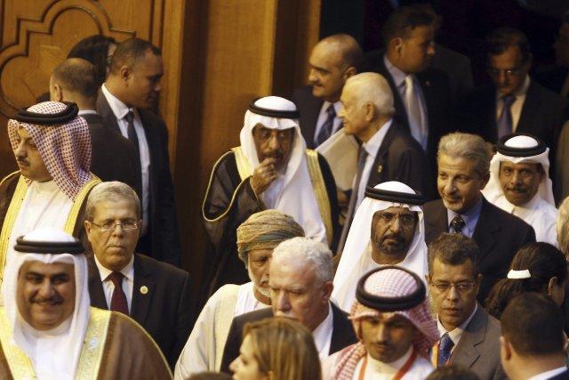 Les ministres arabes des Affaires étrangères arrivent à... (Photo Amr Abdallah Dalsh, Reuters)