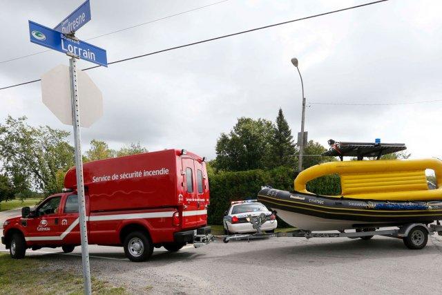 Le chemin Dufresne a été complètement fermé à... (Simon Séguin-Bertrand, LeDroit)