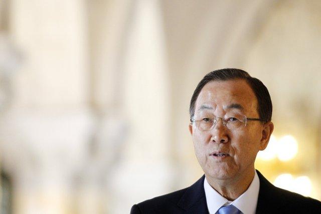 Le secrétaire général de l'ONU Ban Ki-moon.... (PHOTO BAS CZERWINSKI, AFP/ANP)