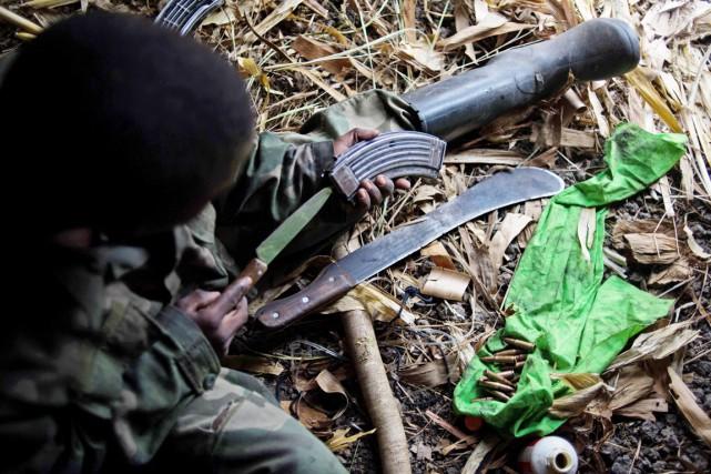 Vingt-quatre personnes au moins, dont douze assaillants, ont été tuées entre... (PHOTO PHIL MOORE, ARCHIVES AFP)