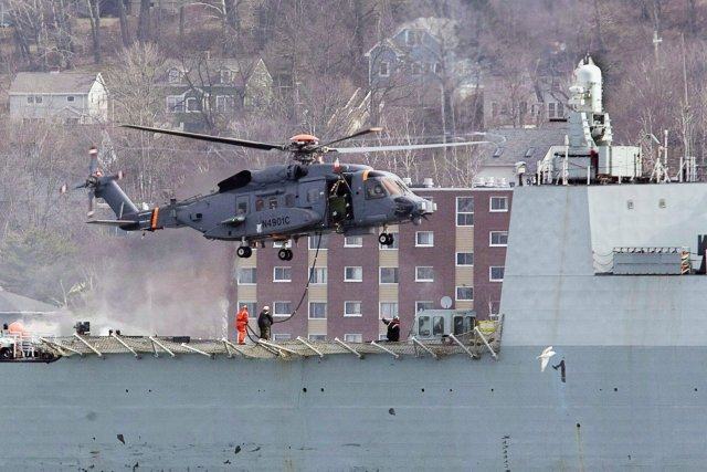 Essai d'un hélicopter CH-148 Cyclone à Halifax en... (Photo ANDREW VAUGHAN, PC)